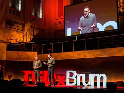 Andreas and Alberto at a TEDx event in Birmingham